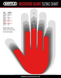 Youth Glove Size Chart Football Battle Youth Receivers Football Gloves Battle Sports