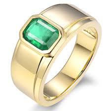 Simple Emerald Ring Design Lanmi Simple Design Mens Jewelry 1 55ct Natural Green