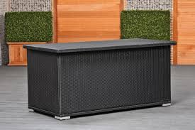 image of patio cushion storage box black