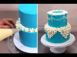 Easy Buttercream Cake Decorating Idea By Cakes Stepbystep Youtube