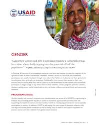 gender equality and women s empowerment u s agency   gender fact sheet