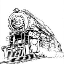 Small Picture Awesome Steam Train Coloring Page Coloring pages for Adults