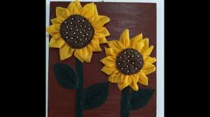 diy sunflower wall art