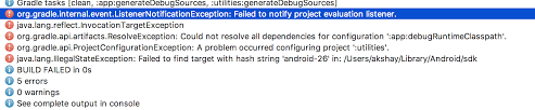 Gradle - Android Failed To Notify Project Evaluation Listener ...