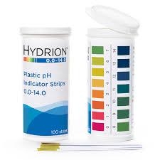 Hydrion Plastic Ph Strips 0 14 Pk 100