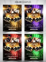 Urban Touch Party Flyer Template Download 30 Vibrant Colorful ...