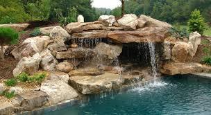 Pool Rock Pool Slides For Inground Pools Pool Waterfalls A