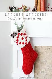 Crochet Christmas Stocking Pattern Mesmerizing Nordic Crochet Christmas Stocking Free Pattern From Make Do Crew
