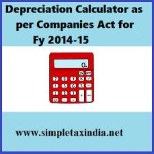 Depreciation Chart As Per Companies Act 2013 Simple Tax India