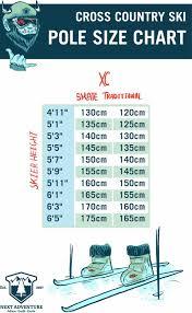 36 All Inclusive Xc Ski Pole Size Chart