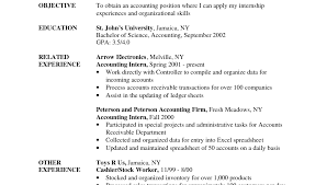 Accounting Objective Resume Objectives Resume Sample Examples For Fresh Graduate Skills Ojt 22