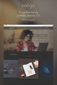 Resume Website Template Caligo Portfolio Resume CV Website Template 100 40