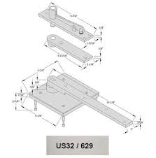 Us32d Finish Chart Abh 0117 75 Us32d Center Hung Pivot Heavy Duty Satin Stainless Steel Finish