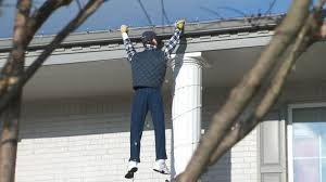 Clark Griswold Hanging Lights Passerby Panics After Seeing Fake Clark Griswold Hanging Off
