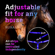 Light Up Horse Breast Collar Rural365 Led Horse Breastplate Collar Led Horse Tack