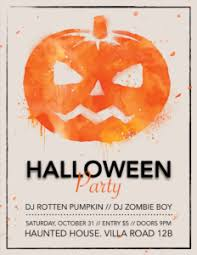 halloween template flyer scary pumpkin halloween flyer template for pages free iwork