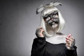 freaky bunny makeup tutorial