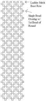 Bead Weaving Chenille Stitch Graph Paper Updated