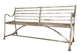 antique iron strapwork outdoor garden