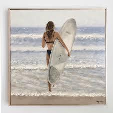 Ashley Bunting Studio - 'Serene Surfer' 45.8 x 45.8 cm | Facebook