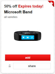 Target Microsoft Band Cartwheel Offer 50 Off Microsoft Band 10 3 Only All Things Target