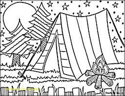 Camping Coloring Pages For Kids At Getdrawingscom Free For