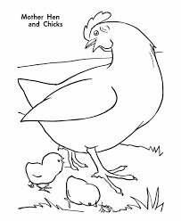 Small Picture Mother Hen and Chicks Coloring Page Coloring Sky