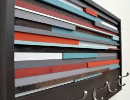 Reclaimed Wood Wall Coat Rack Wood Wall Art Reclaimed Wood Art Coat Rack by moderntextures 73