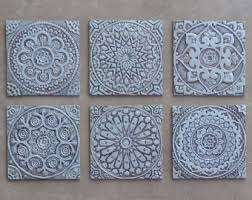 outdoor wall art set of 6 tiles various designs garden decor ceramic tiles yard art wall tiles 30cm aged silver on art wall tiles ceramic with set of 3 fish art for garden garden decor outdoor