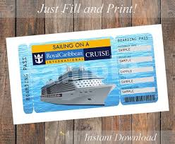 Cruise Gift Certificate Template Printable Ticket For A Royal Caribbean Cruise 8 50 Royal