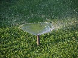 watering the lawn in livingston schedules sprinklers