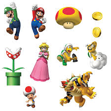 Decoration Stuff For Party Super Mario Bros Removable Wall Decorations Home Removable