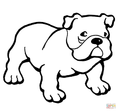Printable Bulldog Coloring Pages