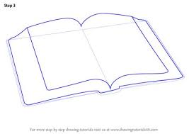learn how to draw an open book everyday objects step by