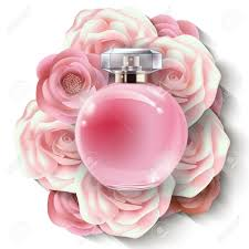 Paper Flower Perfume Pink Bottle Womens Perfume With Beautiful Paper Flowers Beauty