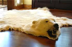 decoration polar bear rug ikea faux skin bear skin rug