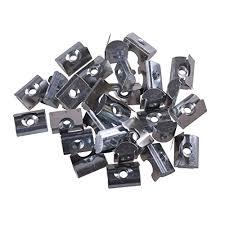 BQLZR Silver <b>Carbon Steel</b> Drop In Type T-Nut <b>M3</b> Thread for 20 ...