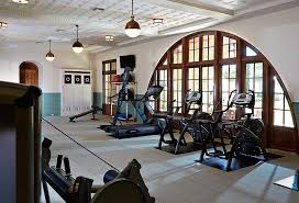 view in gallery modern home gym with the hicks pendants and stylish recessed lighting