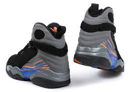 jordan 8 cool grey. air jordan 8 retro suns black bright citrus-cool grey-deep royal blue- cool grey