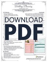 Checklist For Wedding Day Wedding Planning Checklist