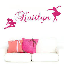ballerina wall decals wall decal name personalized custom decals ballet dancing r ballerina vinyl sticker home