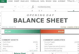 Accounting Balance Sheet Template Simple Excel Spreadsheet Examples Balance Sheet Example Excel Simple
