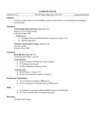 college football coaching resume examples basketball coach resume sample