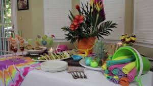 How To Make Indoor Beach Party Decorations Youtube