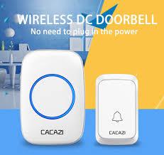 <b>CACAZI</b> Waterproof <b>Wireless</b> Doorbell DC battery operated 4 Button ...