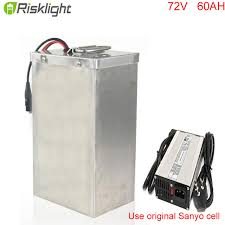 superior quality diy electric bicycle battery 72v 60ah 18650 battery pack for electric car with stainless