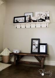 classic polished wooden entryway bench. diy bench for the entryway 15 classic polished wooden