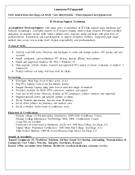 Tech Resume Stunning Updated Lawrence R Coppotelli PC Tech Resume