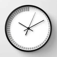 office wall clocks large. simple modern wall clock black and white minimal sixty minutes housewarming gift office clocks large