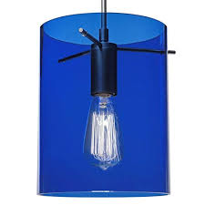 blue track lighting. Bruck Lighting Systems London Matte Chrome One-Light Line Voltage Mini Pendant With Blue Glass Track